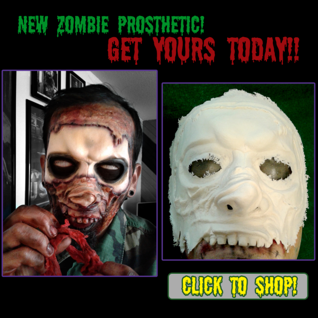 New! Zombie prosthetic appliance for Halloween!